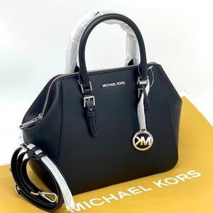 Michael Kors Charlotte LG Satchel Black Bag